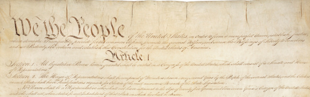 Constitution of The United States (We the People Banner)