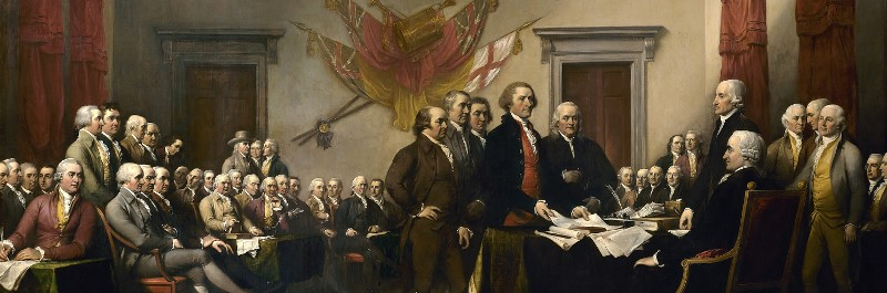 Founding Fathers Signing The Declaration of Indepence of the United States