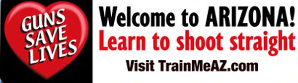 Welcome-to-Arizona: Learn to Shoot Straight (Sign)