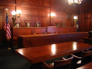 Court Room for the Supreme Court of the United States