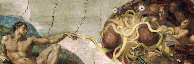 Creation of Adam - Flying Spaghetti Monster Version